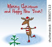 christmas and new year greeting ... | Shutterstock . vector #530837113