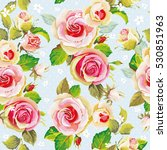 seamless floral pattern with... | Shutterstock .eps vector #530851963