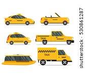 taxi service car set. vector | Shutterstock .eps vector #530861287