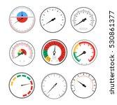manometer temperature gauge... | Shutterstock .eps vector #530861377
