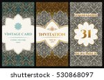 vector set of design elements... | Shutterstock .eps vector #530868097