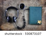 audiobook headphones and book... | Shutterstock . vector #530873107