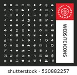 website icon set clean vector | Shutterstock .eps vector #530882257