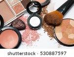 makeup powder on white... | Shutterstock . vector #530887597