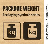 package weight packaging symbol ... | Shutterstock .eps vector #530893993