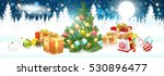 christmas. landscape with... | Shutterstock .eps vector #530896477