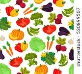 vegetables pattern of pumpkin ... | Shutterstock .eps vector #530899507