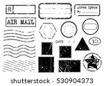 blank postal stamps set... | Shutterstock .eps vector #530904373