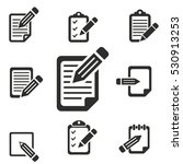 registration vector icons set....   Shutterstock .eps vector #530913253