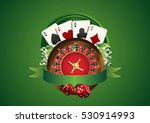 vector casino logo. includes... | Shutterstock .eps vector #530914993