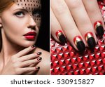 beautiful girl with a veil ... | Shutterstock . vector #530915827