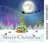 meryy christmas and happy new... | Shutterstock . vector #530924857