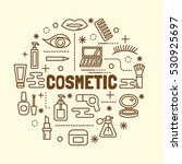 cosmetic minimal thin line...   Shutterstock .eps vector #530925697