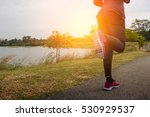 athlete running sport feet on... | Shutterstock . vector #530929537