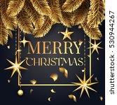 premium luxury merry christmas...   Shutterstock .eps vector #530944267