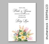 wedding invitation floral... | Shutterstock .eps vector #530956123