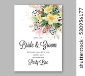 wedding invitation floral... | Shutterstock .eps vector #530956177