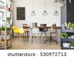 room with communal table ... | Shutterstock . vector #530972713