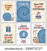 set  cute creative cards... | Shutterstock .eps vector #530973727