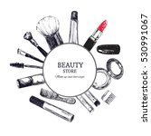 beauty store emblem with type... | Shutterstock .eps vector #530991067