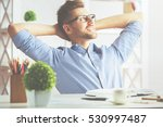 portrait of handsome young man... | Shutterstock . vector #530997487