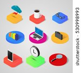 vector isometric web icons on... | Shutterstock .eps vector #530998993
