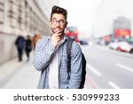 student man thinking | Shutterstock . vector #530999233