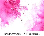 abstract pink watery frame... | Shutterstock . vector #531001003