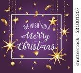 premium luxury merry christmas... | Shutterstock .eps vector #531001207