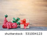 the little gift on wood.... | Shutterstock . vector #531004123