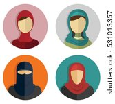 middle eastern arabic women ... | Shutterstock .eps vector #531013357