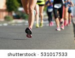 marathon running race  people... | Shutterstock . vector #531017533