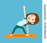 young sportswoman standing in... | Shutterstock .eps vector #531022903