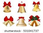 golden christmas bells set... | Shutterstock .eps vector #531041737