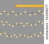 christmas lights isolated... | Shutterstock .eps vector #531048277