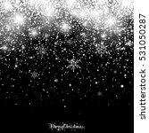 christmas snowfall | Shutterstock . vector #531050287