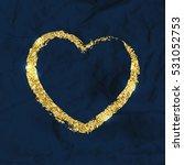 golden brushstroke shape of...   Shutterstock .eps vector #531052753