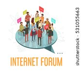 internet forum society with... | Shutterstock .eps vector #531055663