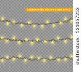 christmas lights isolated... | Shutterstock .eps vector #531057253