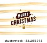 merry christmas text design.... | Shutterstock .eps vector #531058393