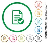 document done flat color icons... | Shutterstock .eps vector #531060667