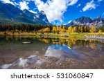 the shallow lake among the... | Shutterstock . vector #531060847