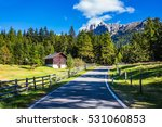 asphalt road descends into the... | Shutterstock . vector #531060853