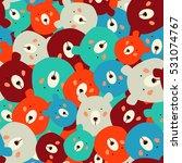 bears seamless pattern | Shutterstock .eps vector #531074767