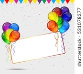 birthday party background  ... | Shutterstock . vector #531078277
