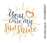 you are my sunshine.... | Shutterstock .eps vector #531088567