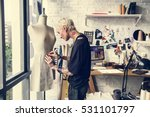fashion designer stylish... | Shutterstock . vector #531101797