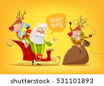 happy santa claus with sweet... | Shutterstock .eps vector #531101893