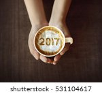 image of 2017 number on coffee. ... | Shutterstock . vector #531104617
