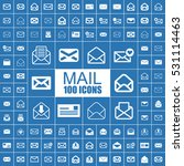 mail  post  letter and message... | Shutterstock .eps vector #531114463